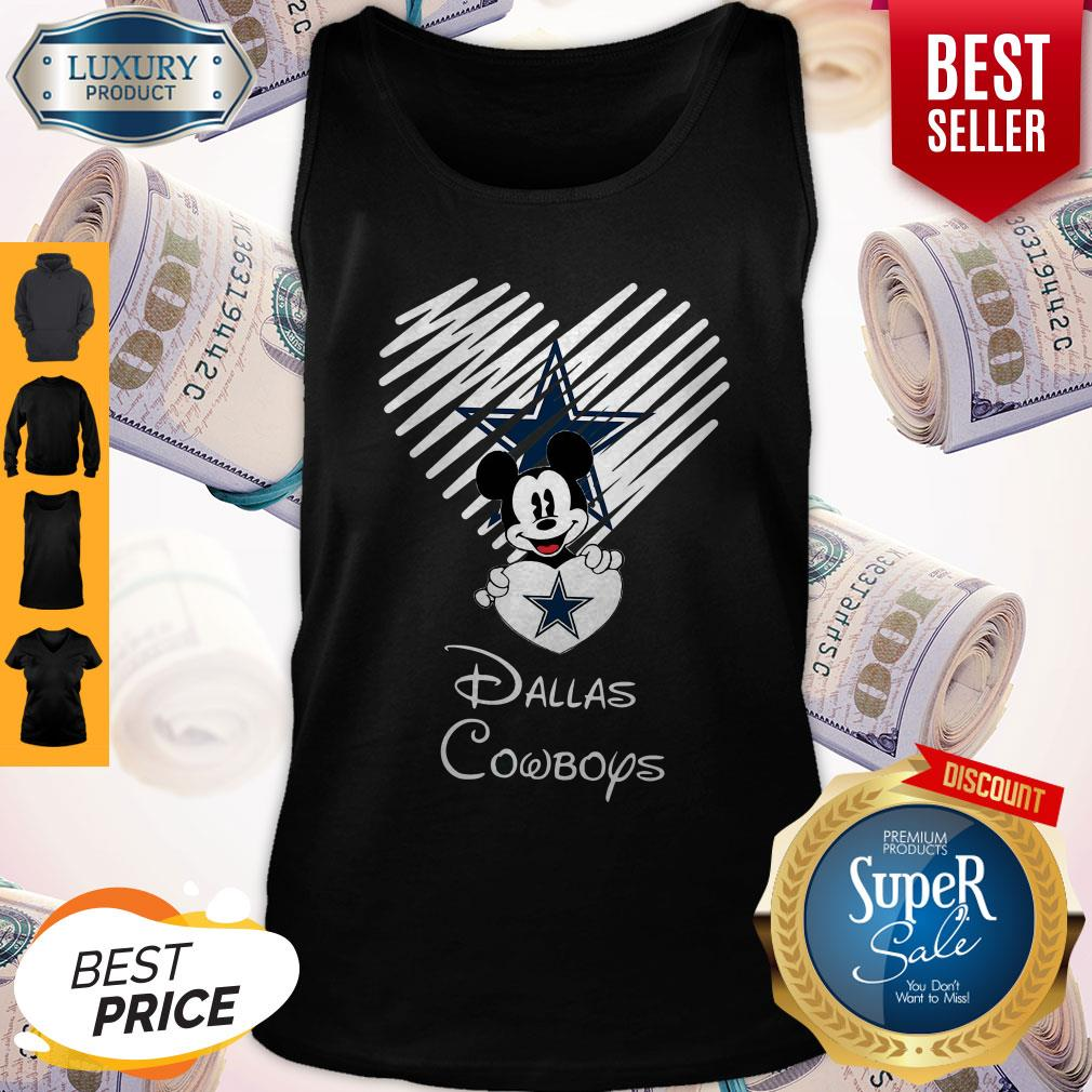 Mickey Mouse The Heart Dallas Cowboys Tank Top