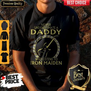 Never Underestimate A Daddy Who Listens To Iron Maiden Shirt
