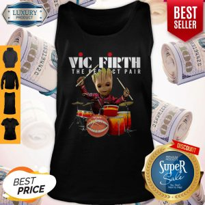 Official Baby Groot Show Animal Playing Vic Firth The Perfect Pair Tank Top