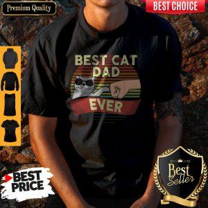 Official Best Cat Glasses Dad Ever Vintage Shirt