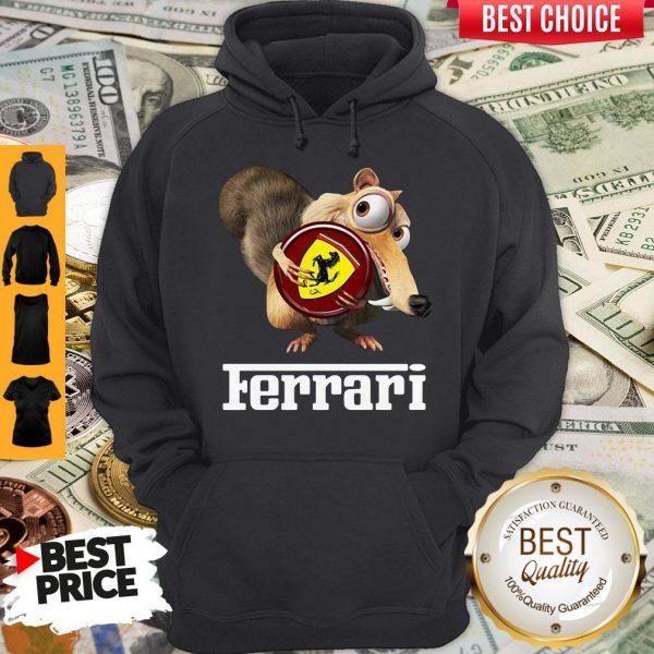 Official Brown Chipmunk Scuderia Ferrari Hoodie