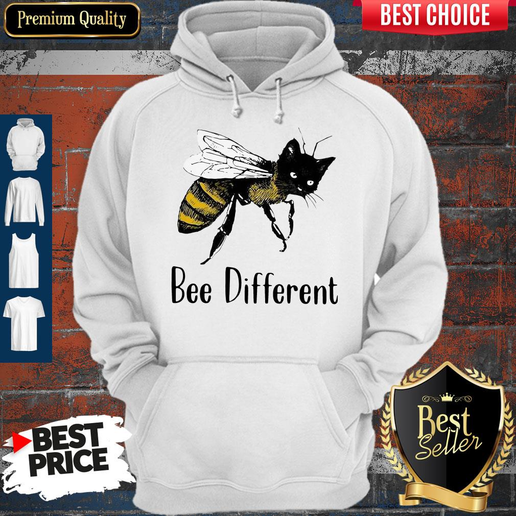 Official Cat Graphic Bee Diffirent Hoodie