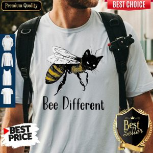Official Cat Graphic Bee Diffirent Shirt