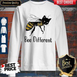 Official Cat Graphic Bee Diffirent Sweatshirt