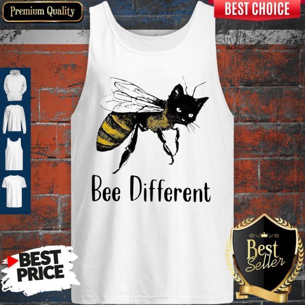 Official Cat Graphic Bee Diffirent Tank Top