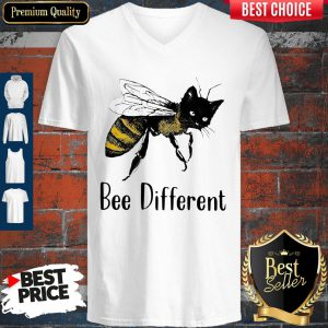 Official Cat Graphic Bee Diffirent V-neck