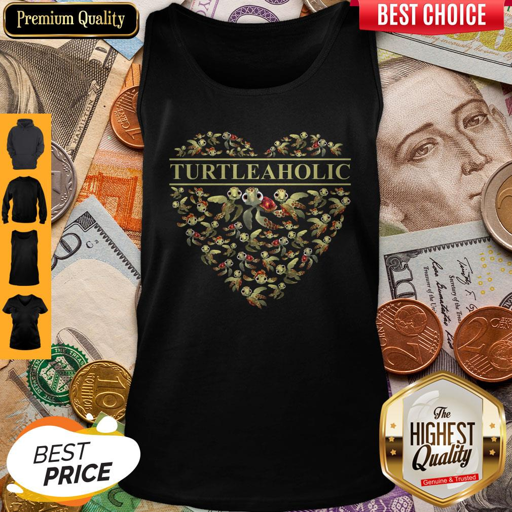 Official Crazy Turtle Aholic Tank Top