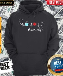 Official Heartbeat Coffee Coronavirus Nurse Life Hoodie