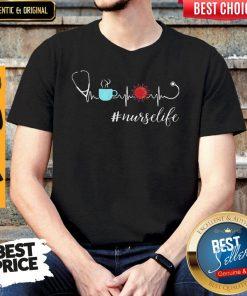 Official Heartbeat Coffee Coronavirus Nurse Life Shirt