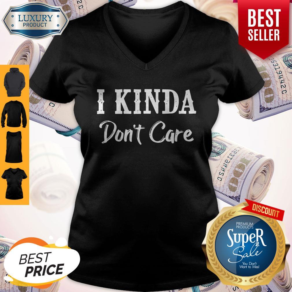 Official I Kinda Don't Care Black Version V-neck