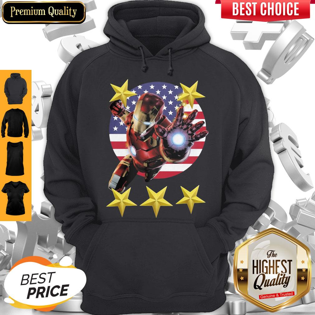 Official Iron Man American Flag Independence Day Stars Hoodie