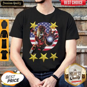 Official Iron Man American Flag Independence Day Stars Shirt