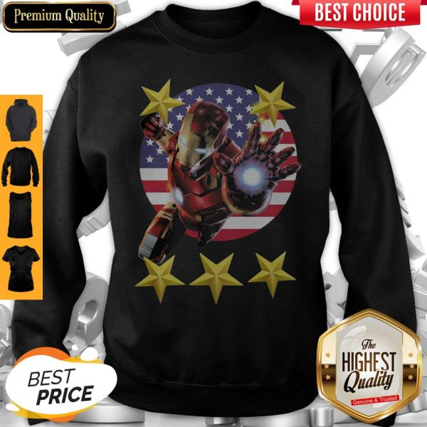 Official Iron Man American Flag Independence Day Stars Sweatshirt