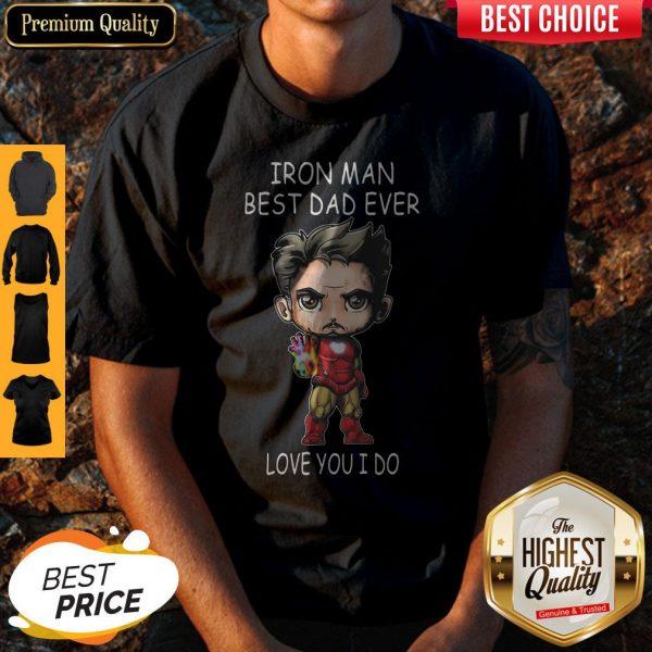 Official Iron Man Best Dad Ever Love You I Do Shirt