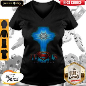 Official Jesus Is My Superhero V-neck