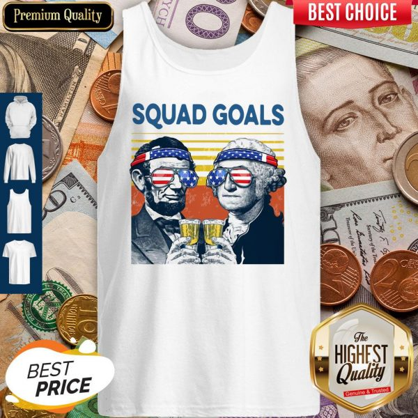 Official Squad Goal American Flag Vintage Tank Top