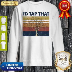 Official Tree I'd Tap That Tree Vintage Sweatshirt