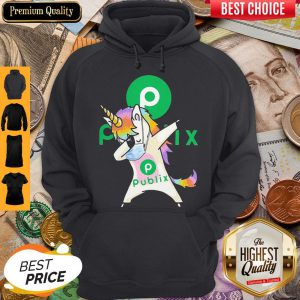 Official Unicorn Mask Dabbing Publix Logo Hoodie