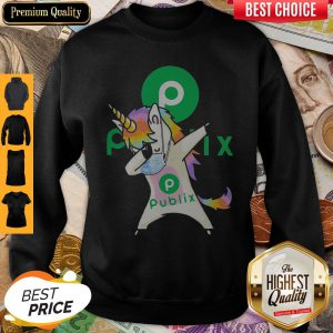 Official Unicorn Mask Dabbing Publix Logo Sweatshirt