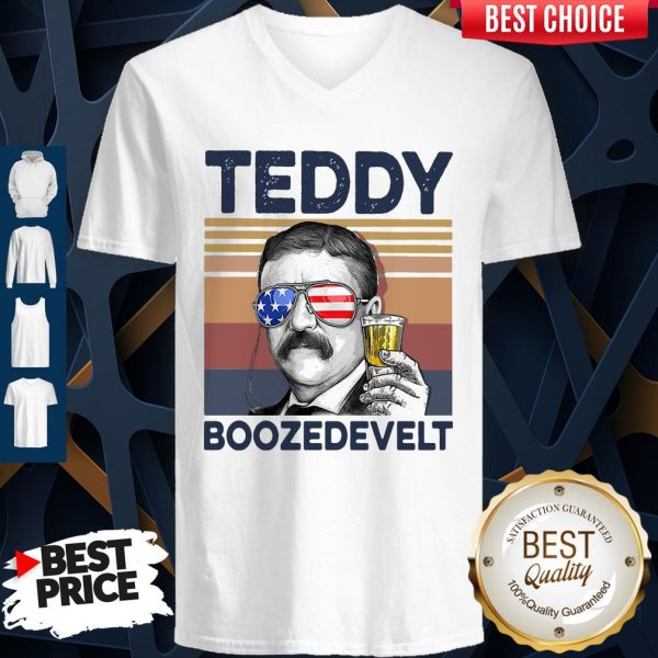 Official US Drink Teddy Boozedevelt V-neck