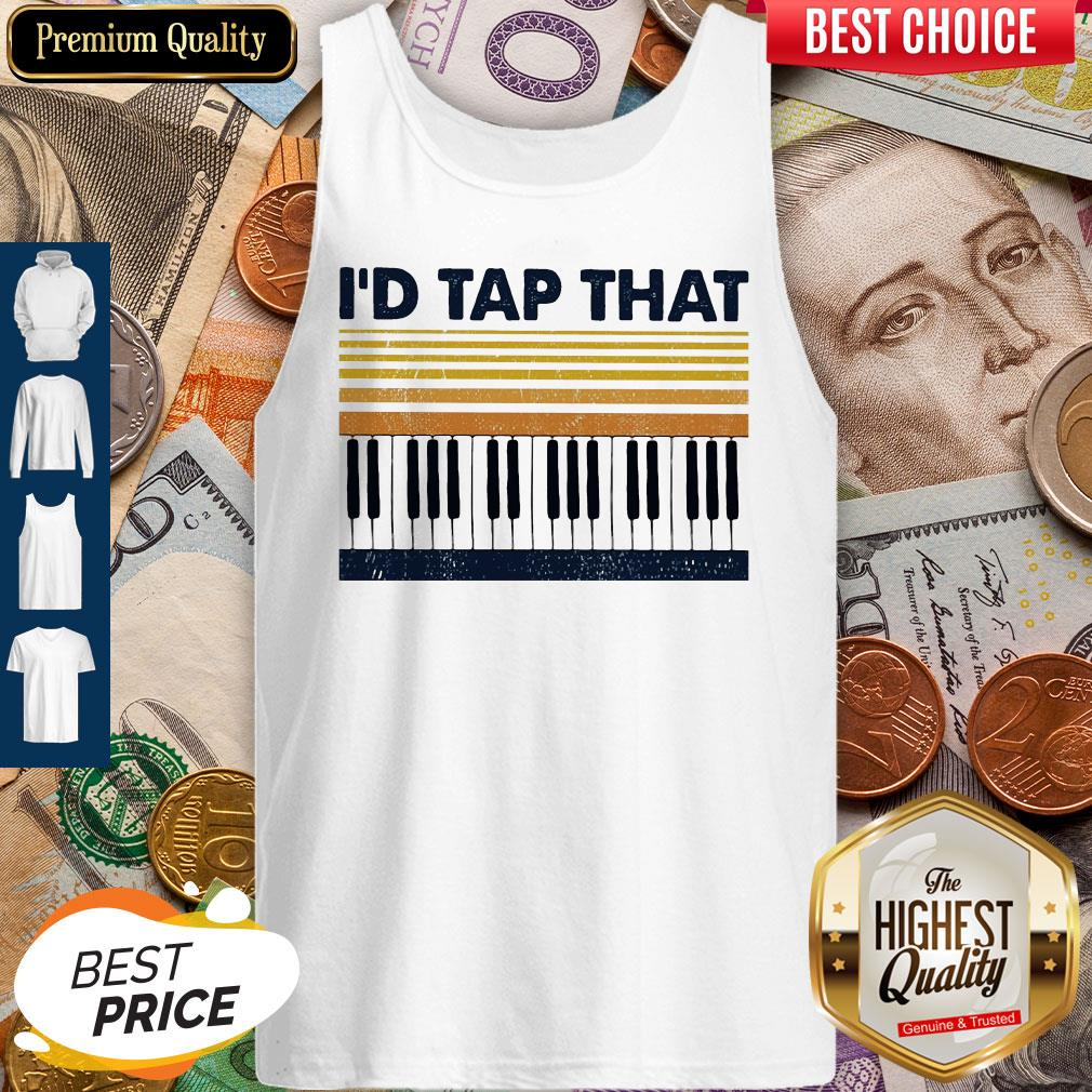 Official Vintage Piano I'd Tap That Tank Top