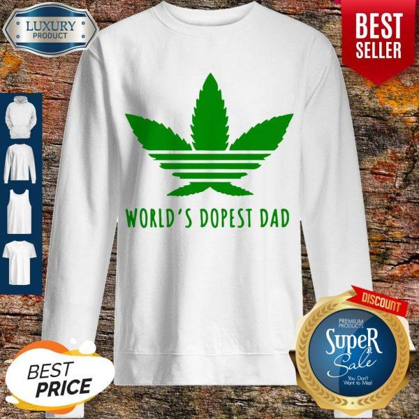 Official Weed Worlds Dopest Dad Sweatshirt