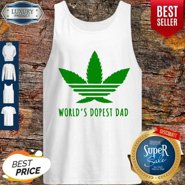 Official Weed Worlds Dopest Dad Tank Top
