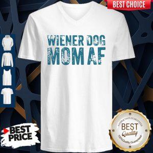 Official Wiener Dog Mom AF V-neck