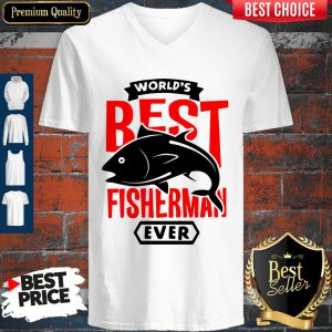 Official World's Best Fisherman Ever V-neck