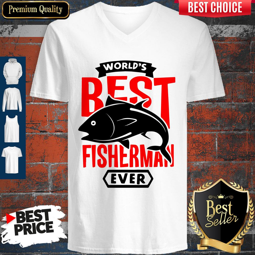 Official World?s Best Fisherman Ever V-neck