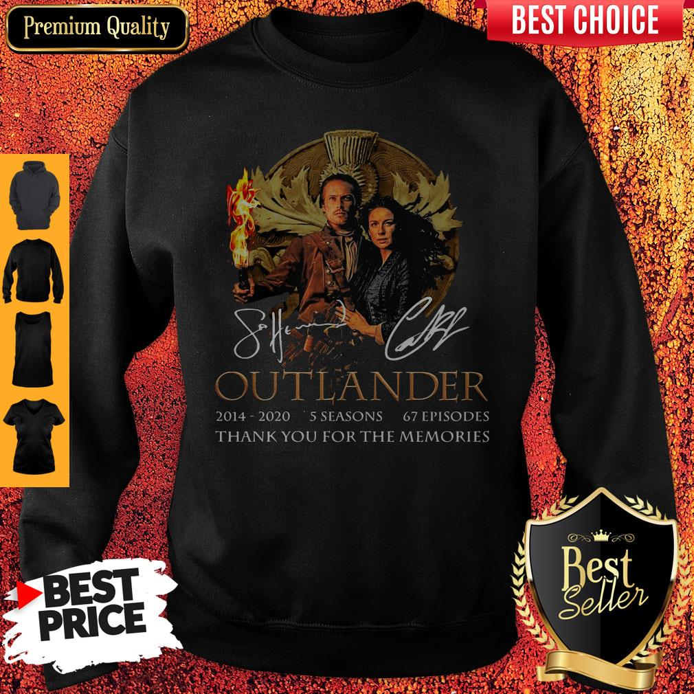 Outlander 2014-2020 5 Seasons 67 Episodes Thank You For The Memories Sweatshirt