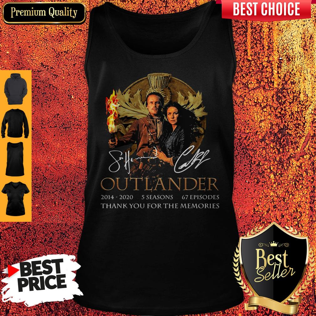 Outlander 2014-2020 5 Seasons 67 Episodes Thank You For The Memories Tank Top