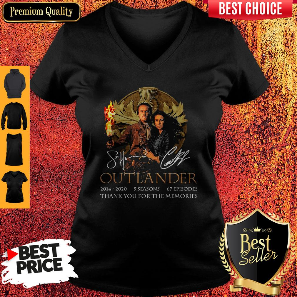 Outlander 2014-2020 5 Seasons 67 Episodes Thank You For The Memories V-neck