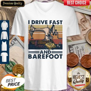Sewing I Drive Fast And Barefoot Vintage V-neck