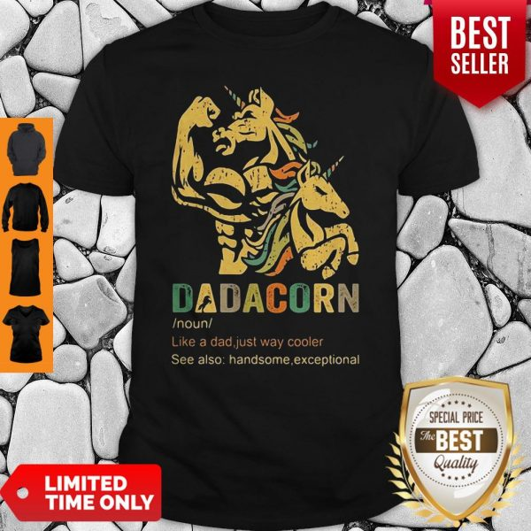Dadacorn Like A Dad Just Way Cooler See Also Handsome Exceptional Shirt