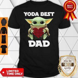 Star Wars Baby Yoda Hugging Heart Yoda Best Dad Shirt