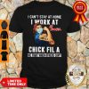 Strong Woman Face Mask I Can't Stay At Home I Work At Chick Fila We Fight When Others Can't Shirt