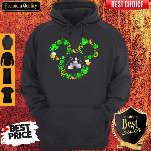 St Patrick's Day Mickey Mouse Disney Castle Hoodie