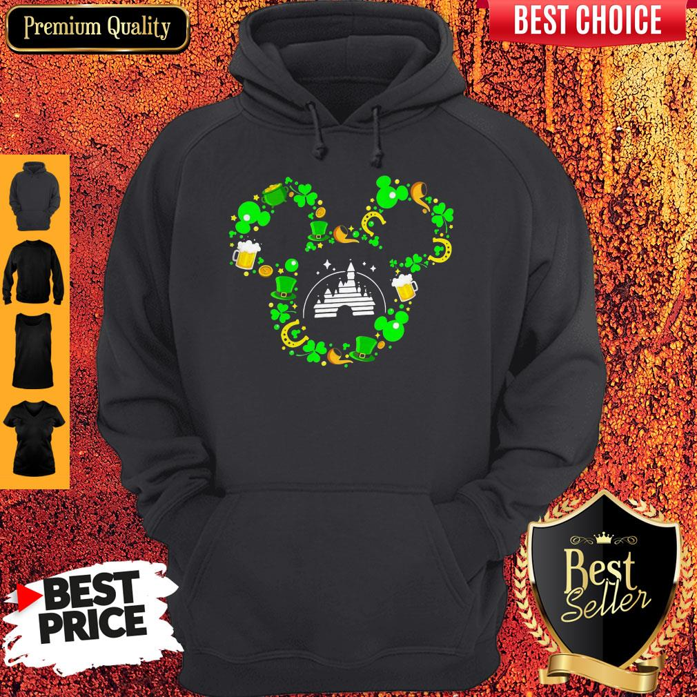 St Patrick?s Day Mickey Mouse Disney Castle Hoodie