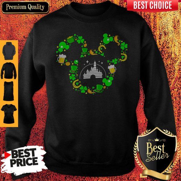 St Patrick's Day Mickey Mouse Disney Castle Sweatshirt