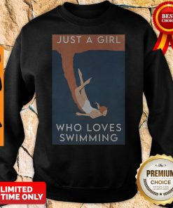 Official Just A Girl Who Loves Swimming Sweatshirt