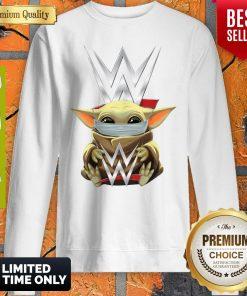 Star Wars Baby Yoda Hug Aew Mask Covid 19 Sweatshirt