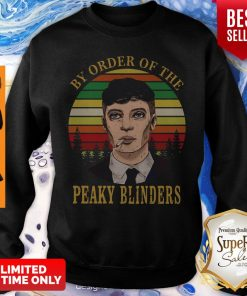 Cillian Murphy By Order Of The Peaky Blinders Vintage Womens Sweatshirt