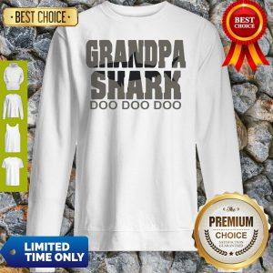 Official Grandpa Shark Doo Doo Doo Sweatshirt