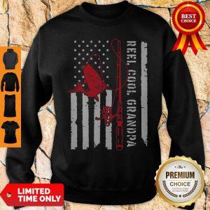 Veteran Reel Cool Dad Fishing Father's Day Sweatshirt