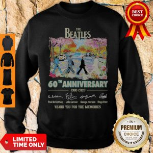 The Beatles 60th Anniversary 1960 2020 Thank You For The Memories Signatures Sweatshirt