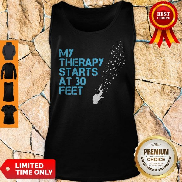 Official My Therapy Starts At 30 Feet Tank Top