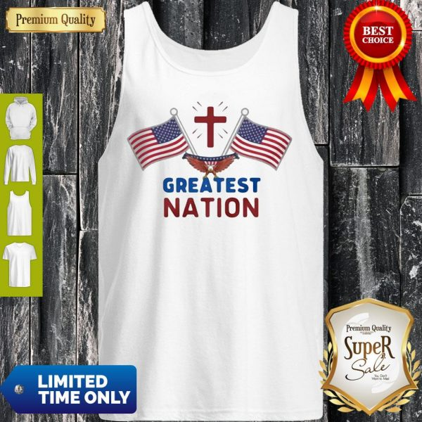 Independence Day Eagle Greatest Nation Flag America Tank Top