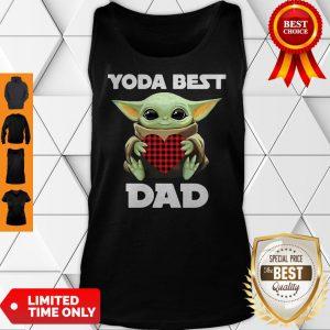 Star Wars Baby Yoda Hugging Heart Yoda Best Dad Tank Top