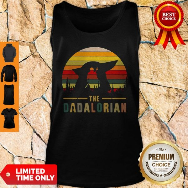 The Mandalorian and Baby Yoda The Dadalorion Vintage Tank Top